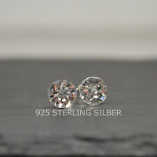 Ohrstecker mit Swarovski® Elements Sterling Silber 925 Chaton 8mm crystal