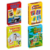 Children's Traditional Card Games - Happy Families Jungle Snap Donkey Pairs Snap