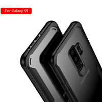For Samsung Galaxy S9 S9+ Shockproof Rubber Bumper Case Slim Clear Acrylic Cover