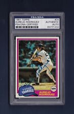 Aurelio Rodriguez signed New York Yankees 1981 Topps card Psa/Dna