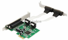 PCI-Express to 2 Ports Serial Rs232 Rs-232 COM+1 Parallel LPT Card MCS9901 chip