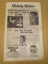 MELODY MAKER 1954 AUGUST 7 BENNY GOODMAN BILLY ECKSTINE PERCY FAITH TONY CROMBIE