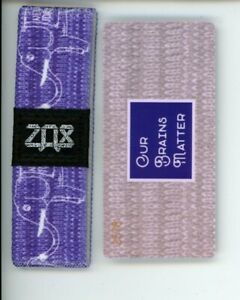 Medium ZOX Silver Strap OUR BRAINS MATTER Wristband with Card Reversible