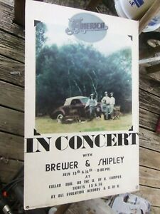 AMERICA in CONCERT with BREWER & SHIPLEY HOUSTON TEXAS  1972 ?   ORIGINAL