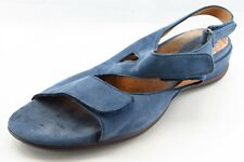 Clarks Artisan Size 9.5 M Blue Slingback Leather Women Sandal Shoes