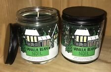 2 Bath & Body Works VANILLA BEAN NOEL Single Wick Candle x2, Essential Oils 7oz