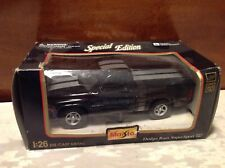 Maisto 1997 Dodge Ram Supersport SS/T Scale 1/26 Black with Silver Racing Strips