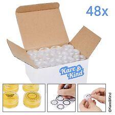 Kare & Kind 48 packs DIY Natural Empty Lip Balm Container pot jars, Cosmetic Cap