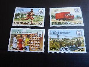 SWAZILAND 1980 SG 355-358 LONDON 80 STAMP EXN MNH