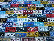 1 Yard Quilt Cotton Fabric- Timeless Treasures Road Trip License Plates Allover