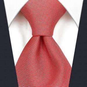 S&W SHLAX&WING Tie Sets for Men Red Neckties Silk Solid Color