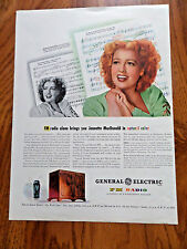 1945 GE FM  Radio Ad Jeanette MacDonald