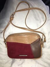 Nine West Smooth Blocking Cross over Messenger bag purse Rusdc MM $49