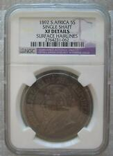 SOUTH AFRICA 5 Shillings 1892 Silver NGC XF Details