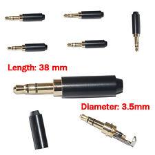 5PCS Noir 3 Pôle 3.5mm Mâle Réparation Prise Jack Casque Métal Audio Souder