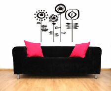 Flower Wall Decals, Floral Wall Decal, Retro Wall Decor, Retro Wall Decal