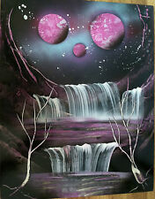 One of a Kind Original Painting Cosmic Purple