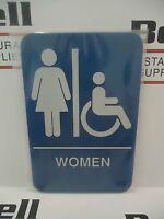 Duro Handicapped Accessible 6x9 ADA Plaque Sign 4336 #5mv