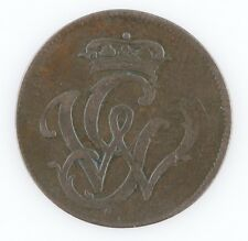 1752 GERMAN STATES 1 PFENNIG KM #5 VERY FINE COIN