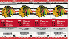 1 CHICAGO BLACKHAWKS VS CALGARY FLAMES TICKET STUB 3/26/13 RAY EMERY SHUTOUT
