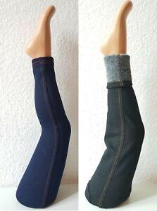 Winterleggings-Jeans-Optik GR.92-158 Mädchen Leggins Fell Hose Thermo  Kinder