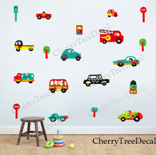 Transport Vehicles Cars Wall Stickers Removable Decal Kids Nursery Bedroom Decor