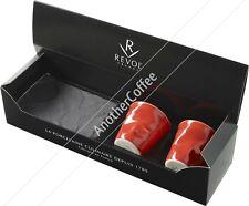 REVOL FR055 froisses chiffonnée porcelaine tasse à espresso ensemble cadeau-Rouge
