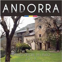 Coffret BU Andorre 2019 - 8 Pièces 1 centimes à 2 Euros en Coffret Officiel