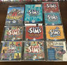 10 Sim PC Game Lot - The Sims, Sim City 2000, Livin Large, Hot Date, Vacation
