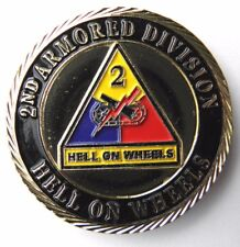 US ARMY 2ND ARMORED DIVISION PATRIOTIC SERIES CHALLENGE COIN 1.6 INCHES NEW