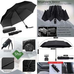Regenschirm Taschenschirm SKEY umgekehrter Regenschirm Umbrella- inkl. Schirm-Ta