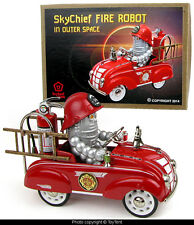 Sky Chief robot fireman custom miniature Murray pedal car fire engine boxed OOAK