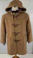 MONTGOMERY england original tan camel double faced wool duffle coat sz 44