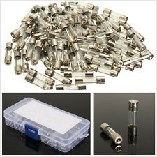 100 Pcs/Set 10 Sizes AMP 5*20mm Car Off-Road Glass Tube Fuses Assorted Universal