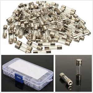 100 Pcs/Set 10 Size AMP 5*20mm Car Off-Road Glass Tube Fuses Assorted Universal