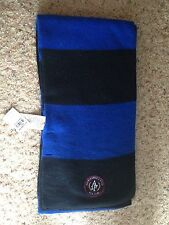 New ABERCROMBIE & FITCH WOMENS CLASSIC SCARF Blue Striped Ivy League Wool Blend