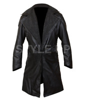 Blade Runner Ryan Gosling 2049 Officer K Fur Leather Jacket Coat Trench ALL SIZE