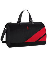 Ralph Lauren Polo Duffle Bag/gym Bag/weekender/travel Black Red NEW!