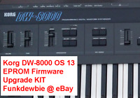 Korg DW-8000 OS 13 EPROM Firmware Upgrade KIT / New ROM Final Update Chip DW8000