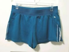 Womens Athletic Works Active Short Shorts S Small 4 6 Teal Green Elastic Waist