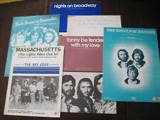 Sheet Music- Bee Gees - Lot of 6 - Massachusetts, Nights on Broadway +4