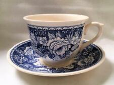 Vintage Masons Blue & White Oversized Cup & Saucer for Crabtree & Evelyn England