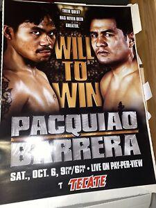 Tecate Original Marco Antonio Barrera vs. Manny Pacquiao Boxing Fight Poster