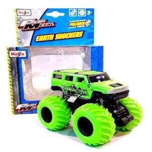 "PULL BACK HUMMER MONSTER TRUCK Radio Active - 4.5"" Die-Cast 4x4 Model Maisto Toy"