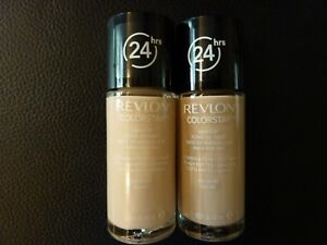 Revlon ColorStay Combo/Oily Skin Makeup / Foundation- IVORY #110- TWO New/Sealed
