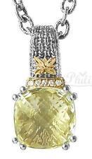 Philip Andre 18K Gold & Sterling Silver Diamond & Lemon Quartz Pendant