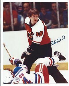 Bobby Clarke, Philadelphia Flyers, Signed 8 x 10 Photo, Clean