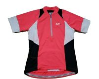 Louis Garneau Womens Cycling Skin-X Jersey 2 Fitted Medium Coral Black White SS