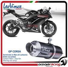 Leovince GP CORSA Slip-on exhaust carbon Racing Kawasaki Ninja 250/300 /R 13>16