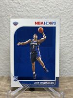 Zion Williamson 2019-20 NBA Hoops Rookie Card #258 Pelicans RC